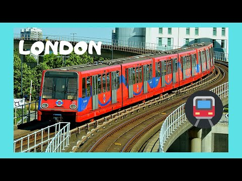 LONDON, Riding the DLR from BANK to GREENWICH (Docklands Light Railway), ENGLAND
