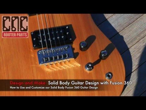Designing a 3D Sculpted Guitar using Fusion 360