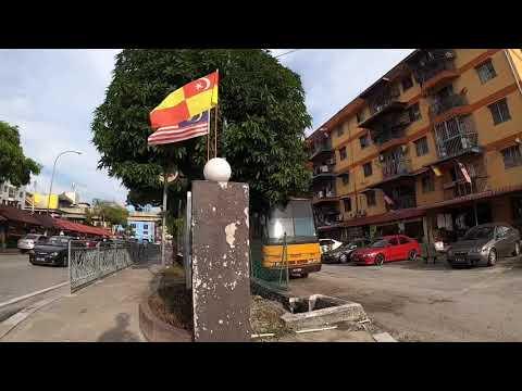 【4K】Walking in Mentari, local area in Malaysia. Street view