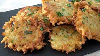 Tortitas de patata alemanas o kartoffelpuffer
