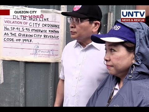 MMDA orders closure of several bus terminal in Cubao, Quezon City due to lack of permit
