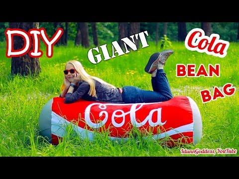 How To Make A Giant Cola Can Bean Bag Chair – DIY Super Giant Coca-Cola Bean Bag Couch
