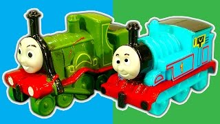 Thomas Mystery Knockoff Wooden Railway Surprise Eggs & Faceless James Toby Daisy