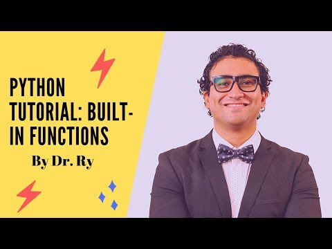 Python Tutorial on Functions | Part 2 on 'Built-In Functions' | By Dr. Ry @Stemplicity thumbnail
