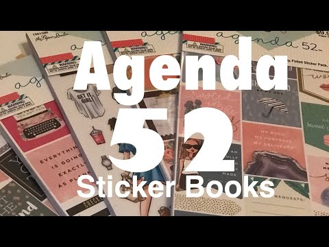 Agenda 52 sticker books by The Paper Studio