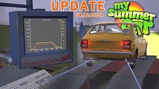HAMOWNIA - POMIAR MOCY, WYŚCIGI DRAG - My Summer Car UPDATE [04.12.2019] Omówienie Aktualizacji