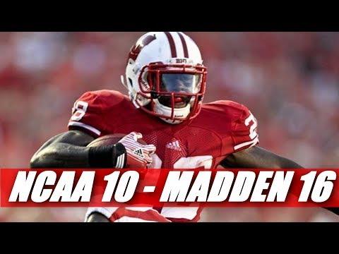 Montee Ball Through the Years NCAA Football 10 - madden 16