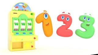Learn Colors Numbers & Shapes with Educational Cartoon Animation - Best Learning Videos For Kids