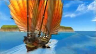 魔法航路 - 美しい海と大型船