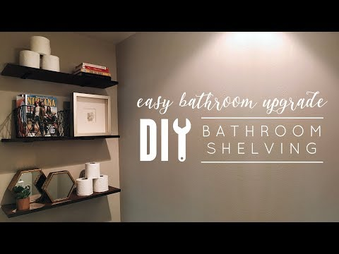 DIY Bathroom Shelves