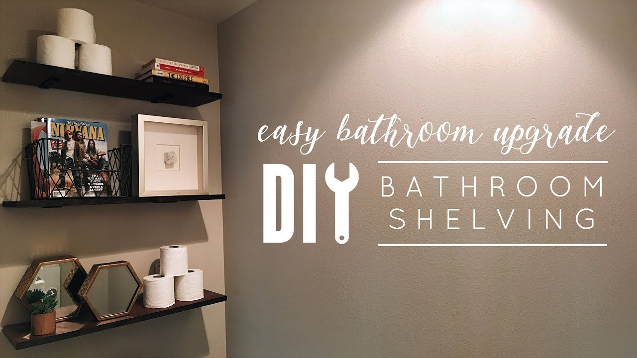 DIY Bathroom Shelves - YouTube