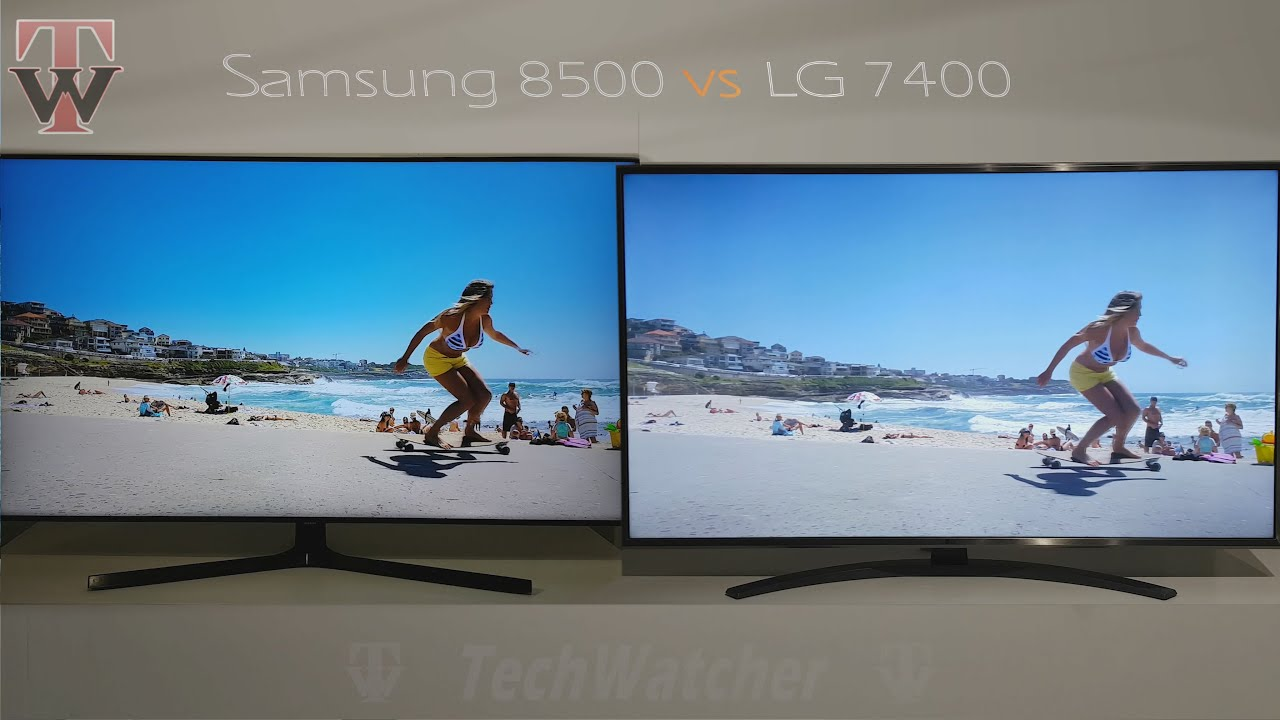 Samsung RU7400 vs LG UN7400 Smart TV - YouTube