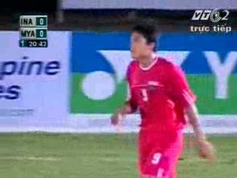 23rd sea games - Myanmar Vs Indonesia (1st half)