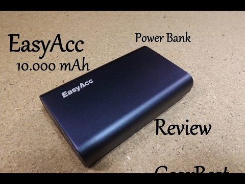 review easyacc 10000mah power bank youtube. Black Bedroom Furniture Sets. Home Design Ideas