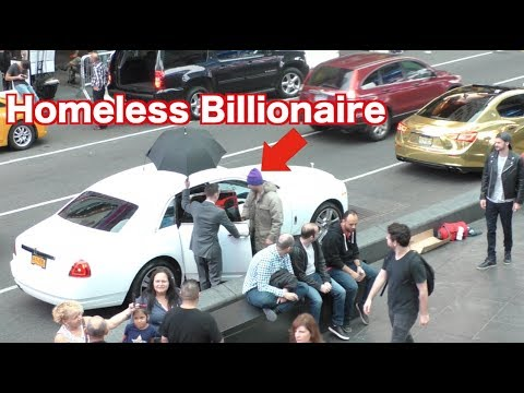 The Homeless Billionaire Prank!