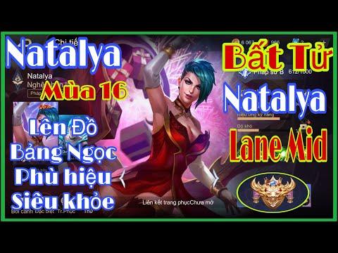Natalya Mùa 16 | Chị Hai Natalya Lên Đồ , Bảng Ngọc Và Phù Hiệu Bất Tử | Natalya Liên Quân