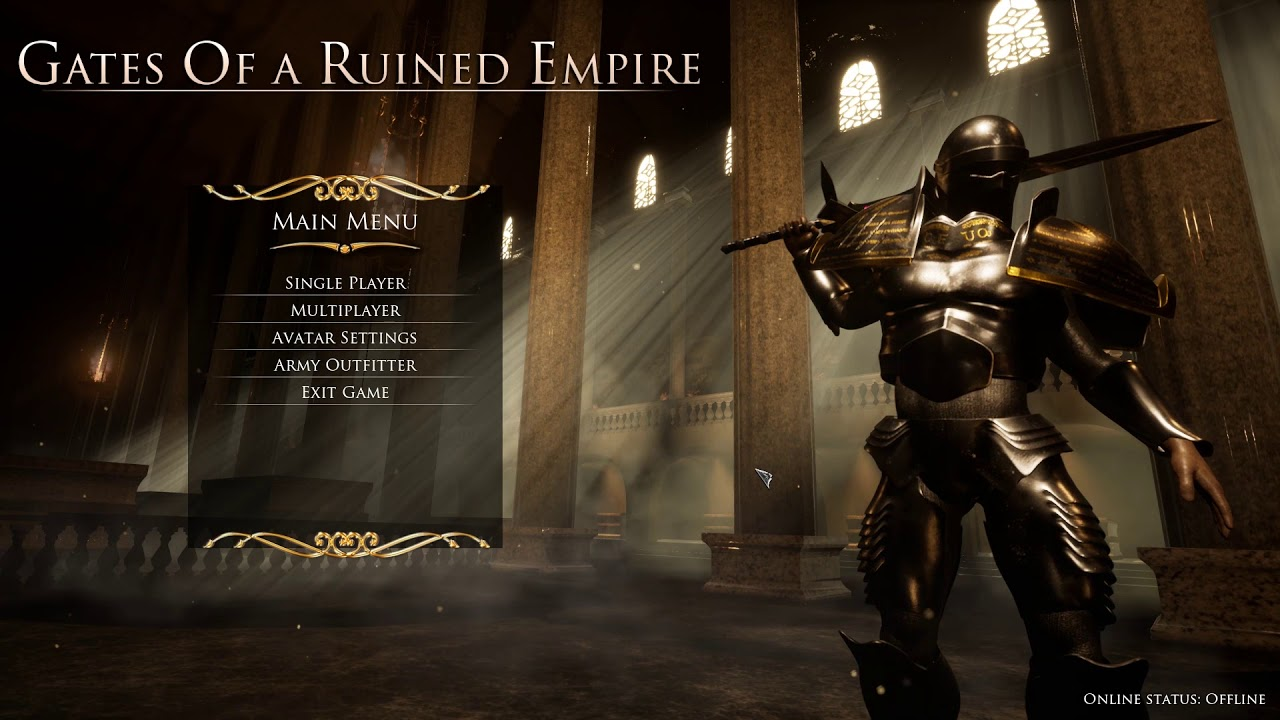Main Menu Preview - Gates Of a Ruined Empire