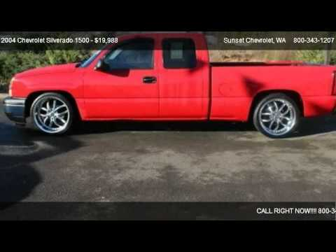 2004 Chevrolet Silverado 1500 1500 2WD LS Lowered - for sale in SUMNER, WA 98390 - YouTube