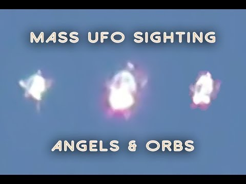 MASS UFO SIGHTING: Morphing ANGEL ORB UFO, Los Angeles 2014