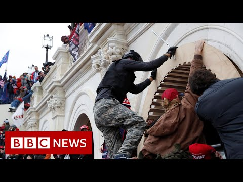 Moment protesters storm US Capitol Building …