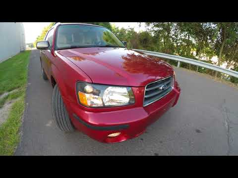 4K Review 2003 Subaru Forester 2.5XS AWD Automatic Virtual Test-Drive & Walk-around