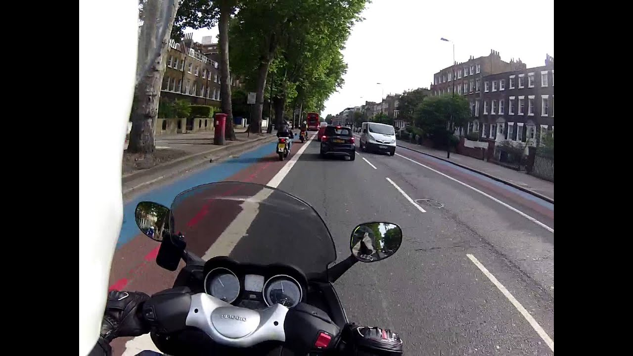 london commute from work on piaggio x evo 125 pt1 - youtube
