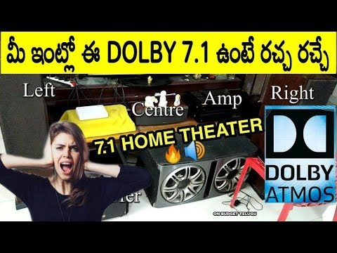 Dolby Atmos 7.1 Home Theater Review in Telugu || Onkyo HT-R990 AV Receiver 5.1 7.1 Surround System