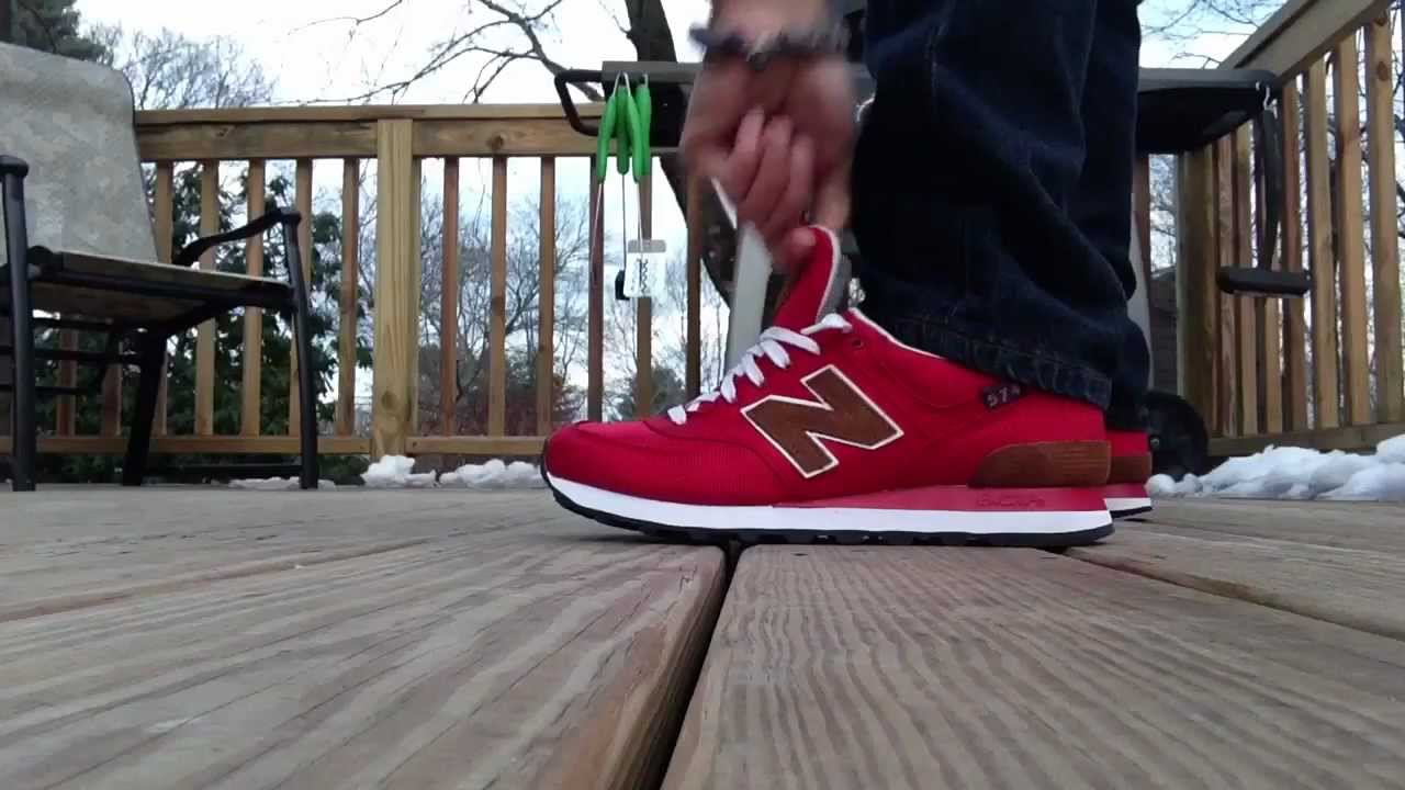 new balance 574 on feet