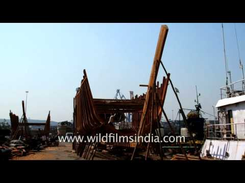 Ship building yard in Visakhapatnam, Andhra Pradesh