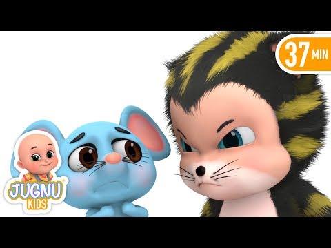 Billi Mausi Billi Mausi Kaho - Hindi Nursery Rhymes - बिल्ली मौसी | Jugnu Kids