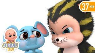 Billi Mausi Billi Mausi Kaho - Hindi Nursery Rhymes - बिल्ली मौसी | Hindi Kahani | Jugnu Kids