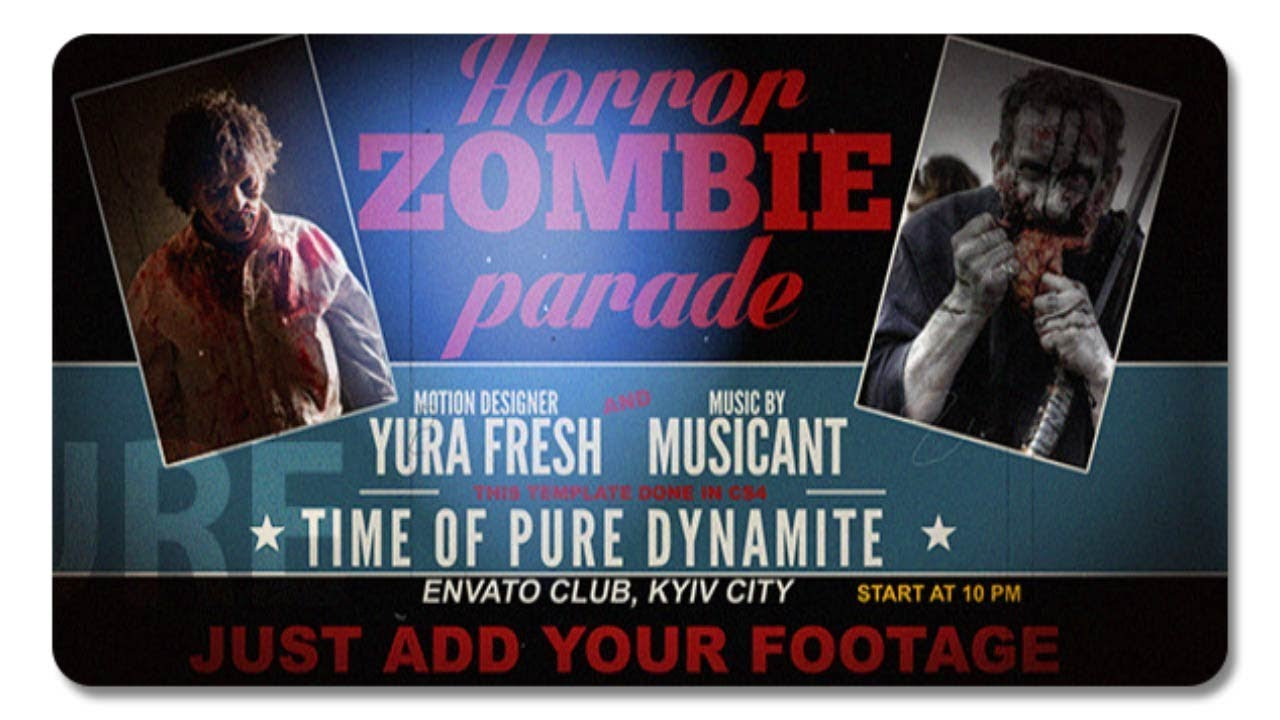 Horror Zombie Parade 5791718 | After Effects Template - YouTube