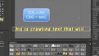 Premiere Pro CS6 Techniques: 39 Titles 7: Crawling Titles