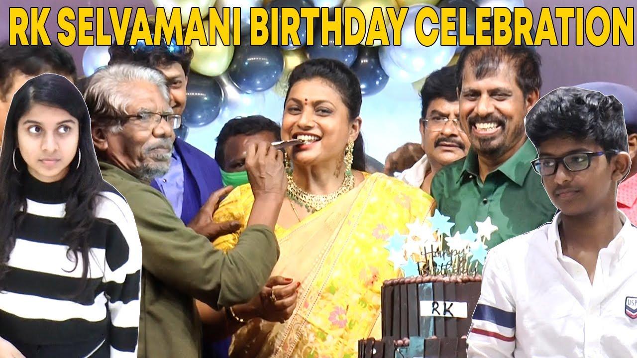 Celebrities at R K Selvamani Birthday Celebrations | Selvamani with his Family | Roja