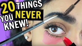 20 Things You NEVER Knew About MAKEUP & HAIR!!
