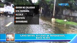 Several areas in Pangasinan  remains flooded