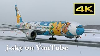 [4K] 40 Minutes Plane Spotting in Snow - New Chitose Airport [CTS/RJCC] / 雪の新千歳空港