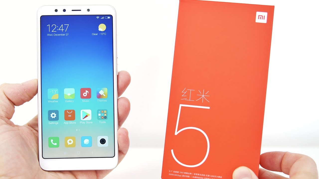 Xiaomi Redmi 5 - Unpacking