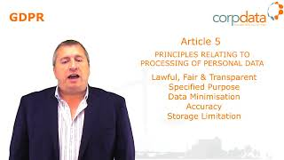 What are the main 6 principles of GDPR? Part 3 in our Guide to GDPR in 1 minute bites