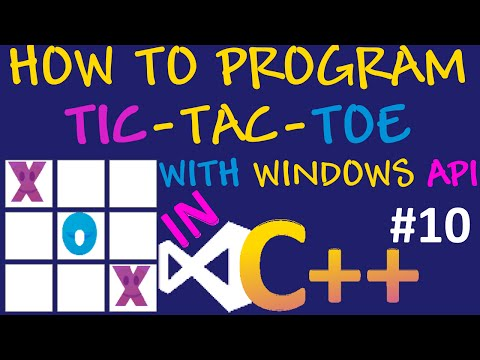 How to program Tic Tac Toe in C++/Visual Studio/Windows API #10 - Display Turns