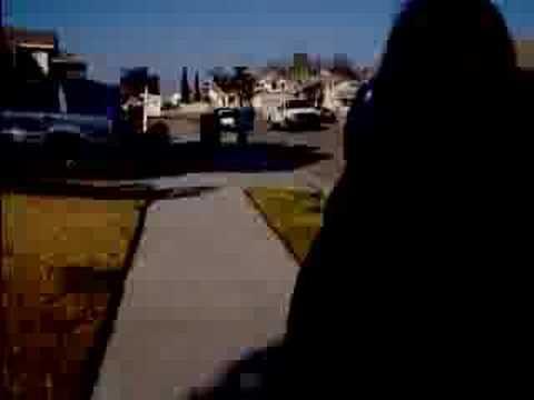 Torrance && Ashley Walking Home.