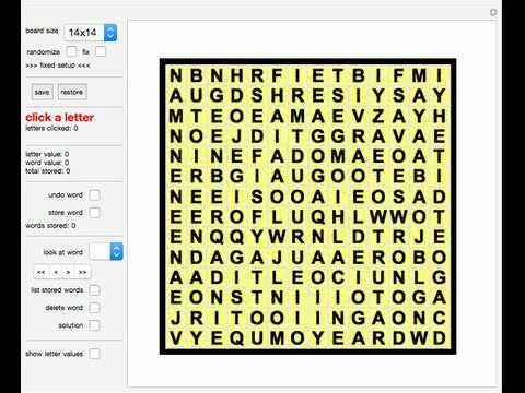 Wordfinder Puzzle