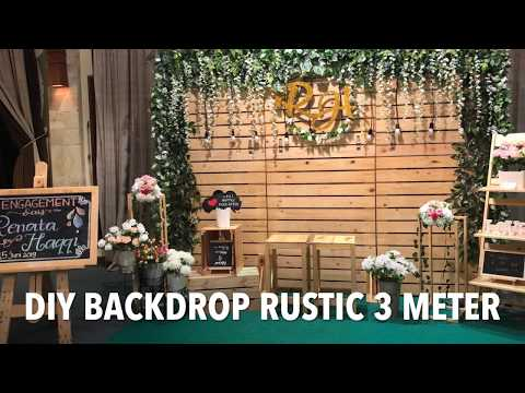 DIY BACKDROP RUSTIC 3 METER