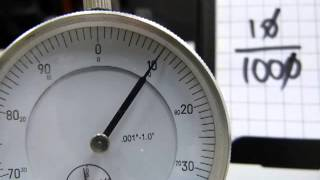 Read a dial indicator (dial gauge)