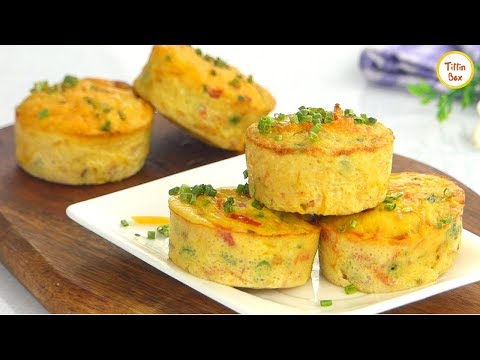 Easy Egg Muffin- Healthy Breakfast Recipe for kids by Tiffin Box | Vegetable Omelette Muffins Recipe Healthy Food Videos