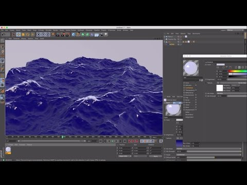 Cinema 4D Tutorial - How to Create Realistic Waves Using HOT4D
