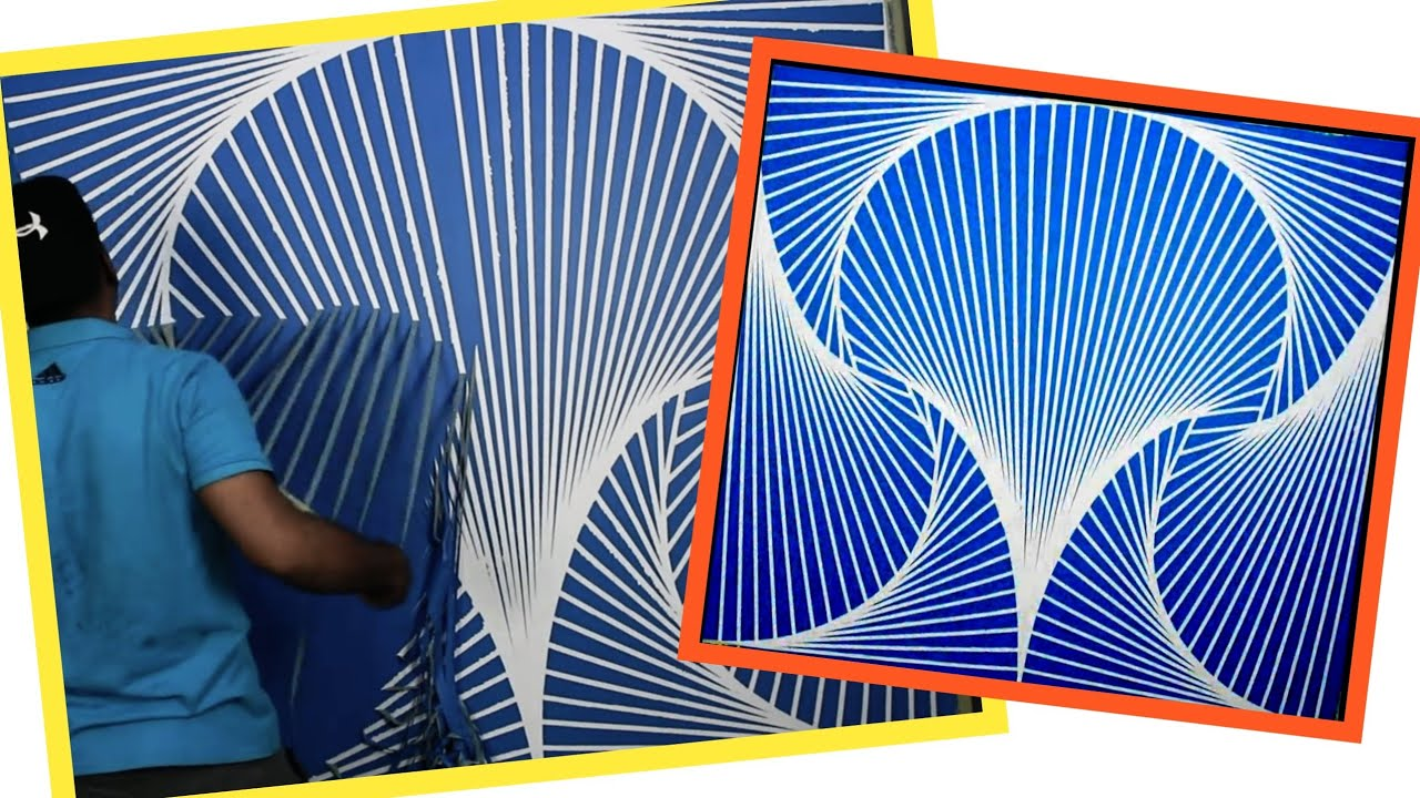 Easy Interior Painting Design Ideas With Tape Youtube