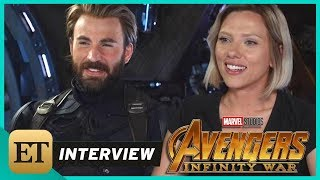 'Avengers: Infinity War': Scarlett Johansson and Chris Evans (FULL INTERVIEW)
