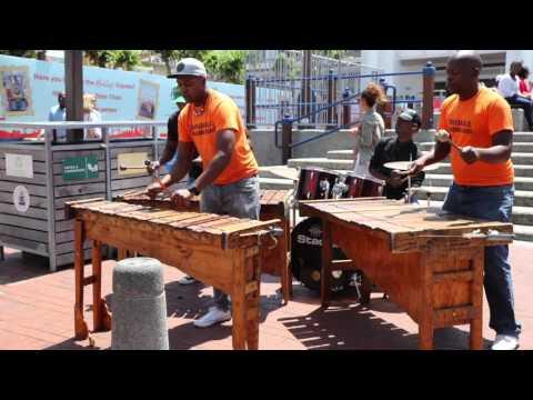 V&A Waterfront african xylophone Sivukile Marimba band