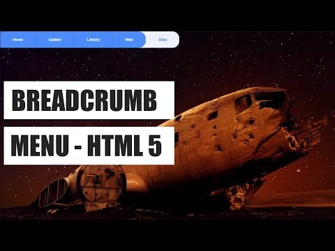 Breadcrumb Menu for your website design - Html 5 & pure css 3
